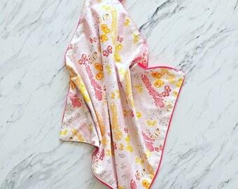 Floral Lovey Blanket | Butterfly Minky Lovey Blanket | Security Blanket | Cuddle Blanket | Baby Blanket | Lovey Blanket | Pink Lovey | Doll