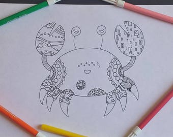 Art therapy patchwork crab