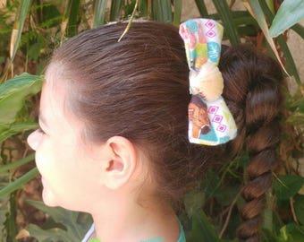 Moana Inspired Bow, Birthday Party Favor, Birthday Girl bow, Hawaiian Hair Clip, Seashell Accessory, Ocean Embellishment, Sealife Accessory