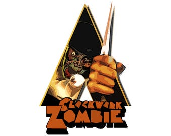 T-SHIRT: Clockwork Orange / Zombie Apocalypse - Classic T-Shirt & Ladies Fitted Tee - (LazyCarrot)