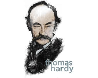 T-SHIRT: Thomas Hardy - Classic T-Shirt & Ladies Fitted Tee - (LazyCarrot)