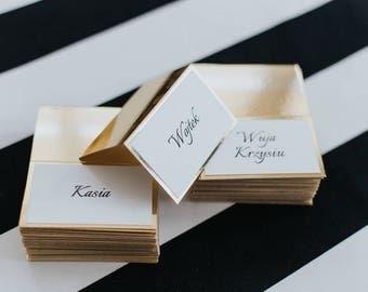 Wedding Place Cards Glamour Decorations Gold Card Elegant