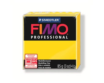 Polymer clay Fimo Pro 85 g - yellow pure No. 100