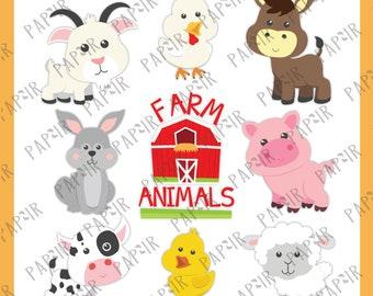 Farm Animals SVG | farm clipart, farm animals clipart, barnyard animals