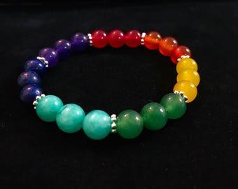 Chakra Balancing Bracelet Eternal Balance Strength Wisdom Courage Center Zen Yoga Yogi Boho Pride