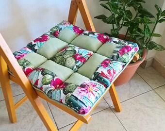 Summer chair cushion, outdoor pillows, chair pads, outdoor decor, colorful pillows, outdoor chair cushion, patchwork pillow