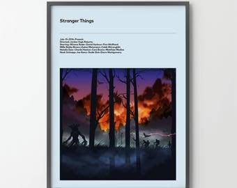 STRANGER THINGS Poster Art Print, Movie Film Posters Netflix 2016