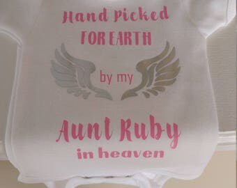 Hand picked for earth baby onesie