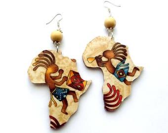 African drum earring Etsy