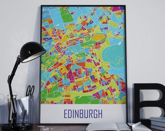 Edinburgh Map Edinburgh Watercolor Edinburgh City Map Edinburgh Street Map Edinburgh Travel Map Edinburgh Map Poster Edinburgh Map Photo