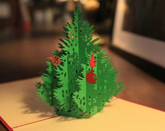 Christmas Tree Pop Up Card - 3D Christmas Card
