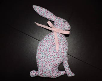 Plush pink deco Bunny with flower