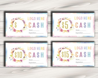 LLRoe Business card size Instant Download Lula Cash Home Office Approved Colors and Font - watercolour