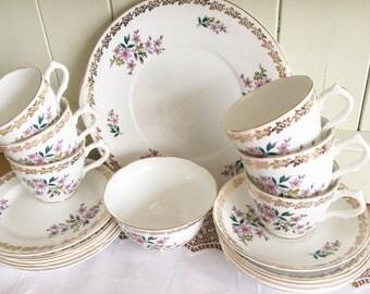 Royal Grafton Floral Spring Vintage Tea Set 20 Piece