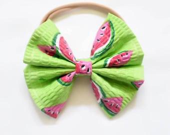 Nylon headband - One in a melon bow