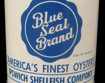 Blue Seal Brand Gallon Oyster Tin Can
