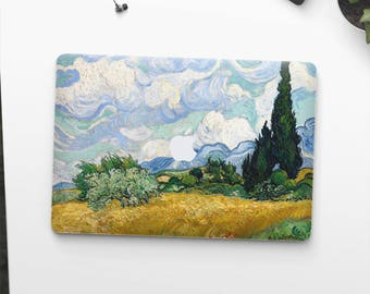 "Vincent Van Gogh, ""Wheat Field with Cypresses"". Macbook Pro 15 skin, Macbook Pro 13 skin, Macbook 12 skin. Macbook Pro skin Macbook Air skin"