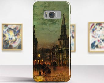 "John Grimshaw, ""Blackman Street, London"". Samsung Galaxy S8 Plus Case LG V30 case Google Pixel Case Galaxy A5 2017 Case. Art phone cases."