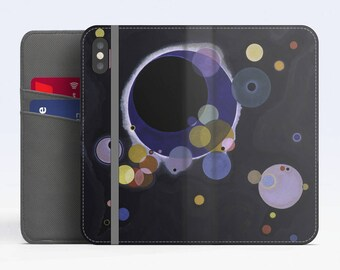 "Vasily Kandinsky, ""Several Circles"". iPhone X Flip case, iPhone 8 Flip case, iPhone 7 Flip case, iPhone 6 Flip case. Samsung Flip cases."