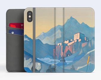 """Nicholas Roerich, """"Stronghold of the Spirit"""". iPhone X Wallet case iPhone 8 Wallet case  iPhone 7 Plus Wallet case. Samsung Wallet cases."""