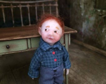 Miniature doll 1/12 scale, OOAK/Unique design Julien Martinez