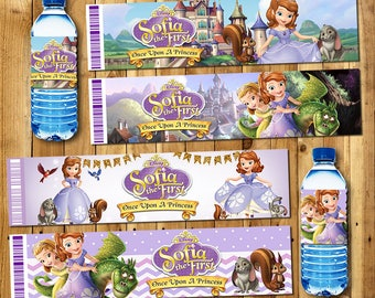 Sofia Water bottle label, Sofia Gift Water bottle label, Water bottle label for Sofia Birthday, Party Water bottle label | SO_WATER