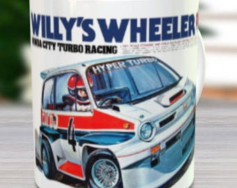 Willy's Wheeler Coffee Mug with Optional Keychain, Vintage Model, RC Coffee Mug, Gift For Him, Hobbyist, Radio Controlled Car, Coffee Cup