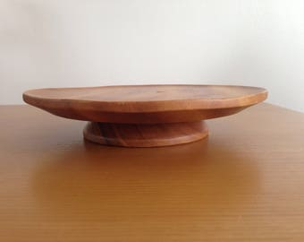 Vintage wooden rotating cake stand