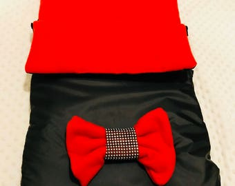 Red and black footmuff