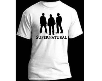 Supernatural Winchester Brothers Sam Dean Unisex T Shirt Many Sizes Colors Custom Horror Halloween Merch Massacre