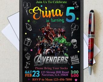 Superhero Invitation/Superhero Avenger Birthday Invitation/Avenger Invitation/Boy Invitation/Birthday Invitation/Superhero Birthday