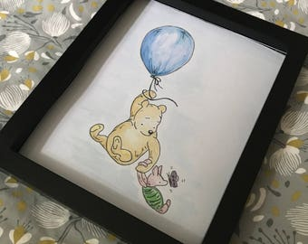 Hand Painted Winnie The Pooh & Piglet