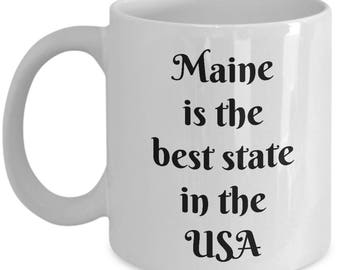 Maine Coffee Mug - Best Gift for any occasions White cup 11oz / 15oz