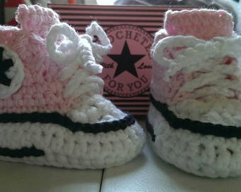 Converse like girls booties, size 3-6 months.