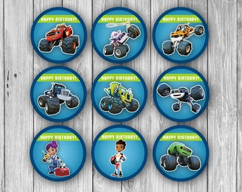 Blaze and the Monster Machines Cupcake Toppers (Digital)