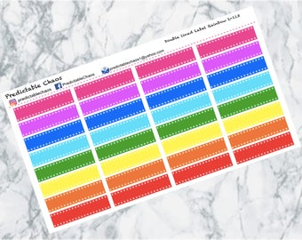 Double lined labels, planner stickers