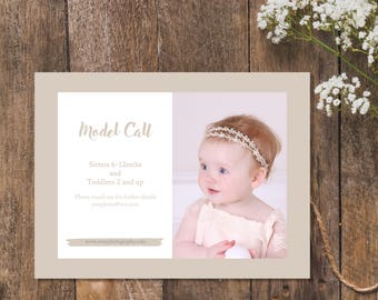 Photography Model Call Template