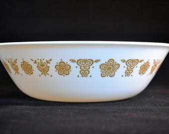 Pyrex Corelle Butterfly Gold Mixing Bowl