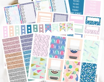 School Is Cool // Happy Planner Weekly Kits // Functional Stickers // Back To School