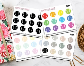 005 | Baseball/Softball // Mini Icon Planner Stickers