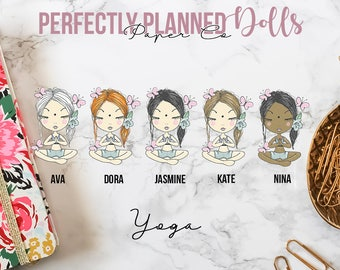 012 | Yoga | Planner Dolls // Character Planner Stickers
