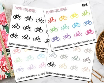 035 | Bicycle  // Mini Icon Planner Stickers