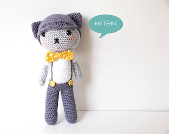 Crochet Amigurumi Cat Pattern, Amigurumi Pattern Cat Crochet Pattern, Crochet pattern cat, Amigurumi Animal Crochet Pattern PDF