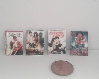Step Up Movies Miniature DVD Set  1:12 Scale