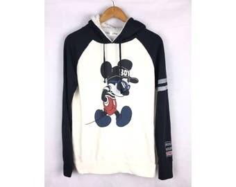 DISNEY Hoodies Mickey Mouse Long Sleeve Hoodies Medium Size