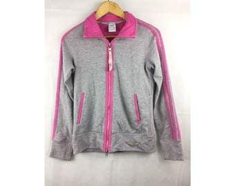 ADIDAS Long Sleeve Jackets Sportwear Large Size Kids Fully Zipper Pink Colour