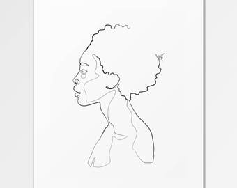 Zola - Fine Art Print of One Single Line Illustration