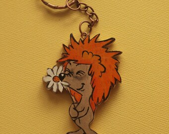 "Keychain ""Hedgehog with chamomile"""