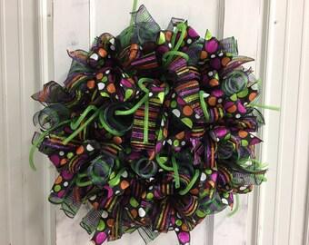 Halloween/Fall Deco Mesh Wreath