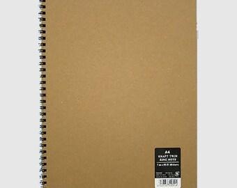 Kraft Ring A6 A5  B5 A4 Notebook Gifts